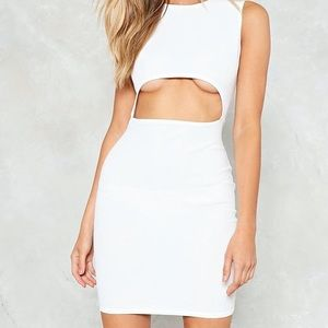 Nasty Gal Bodycon Cocktail Dress in White